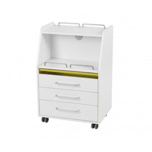 Multifunctional Podiatry Salon Trolley with three drawers