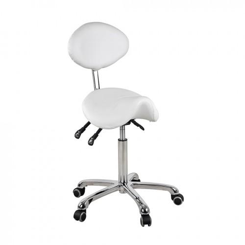 luxury salon saddle stool dynamic white