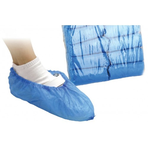 Disposable Blue Overshoes Size Fits All (100)