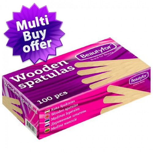 Disposable Wooden Waxing Spatulas (100)