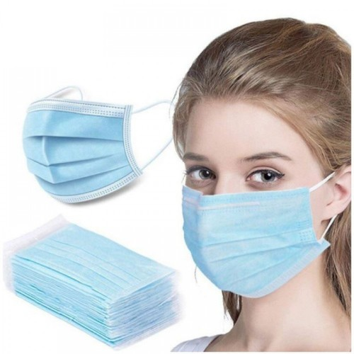 Disposable 3PLY Face Mask blue (Pack of 50) - CE Marked