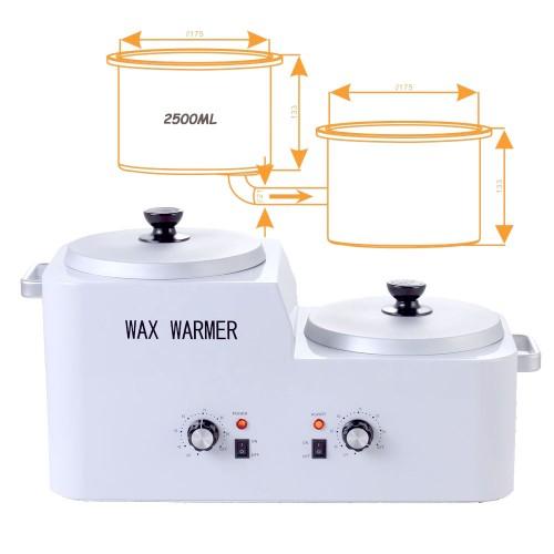 Professional Double-tank Wax Heater, 5 Liters