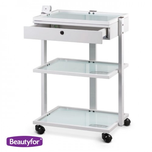 Beauty salon trolley with drawer shelves 1040a for Salon trolley